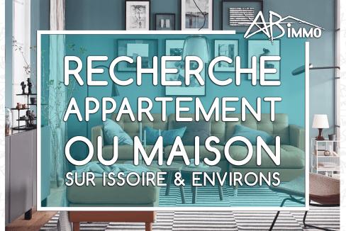 Recherche Appartement ou Maison sur Issoire & environs
