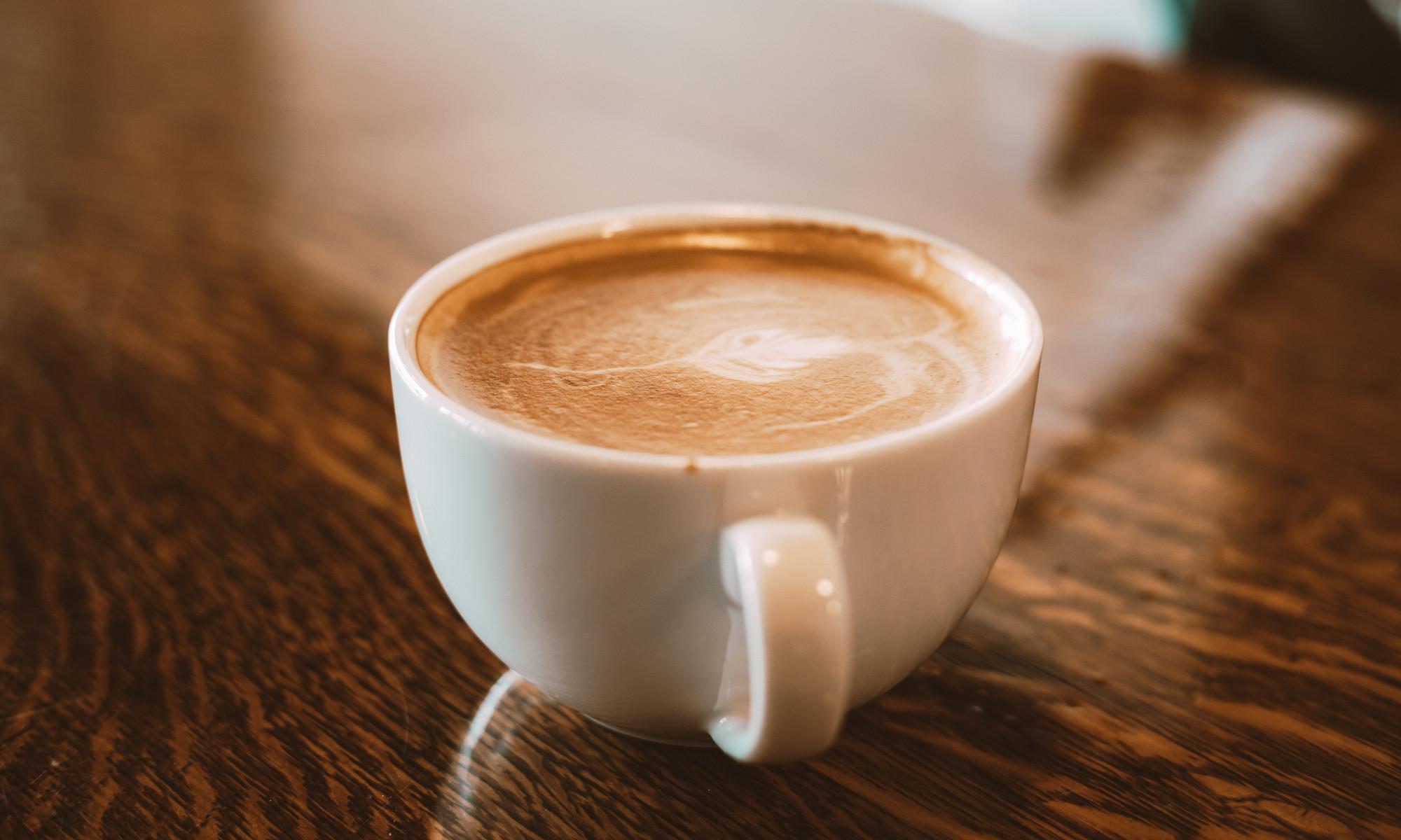 foto de xícara de café com leite