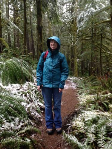 Snow on the path!