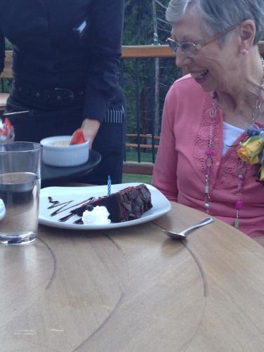 Birthday cake at Callahan's