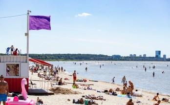 Lilla lipp Stroomi rannas
