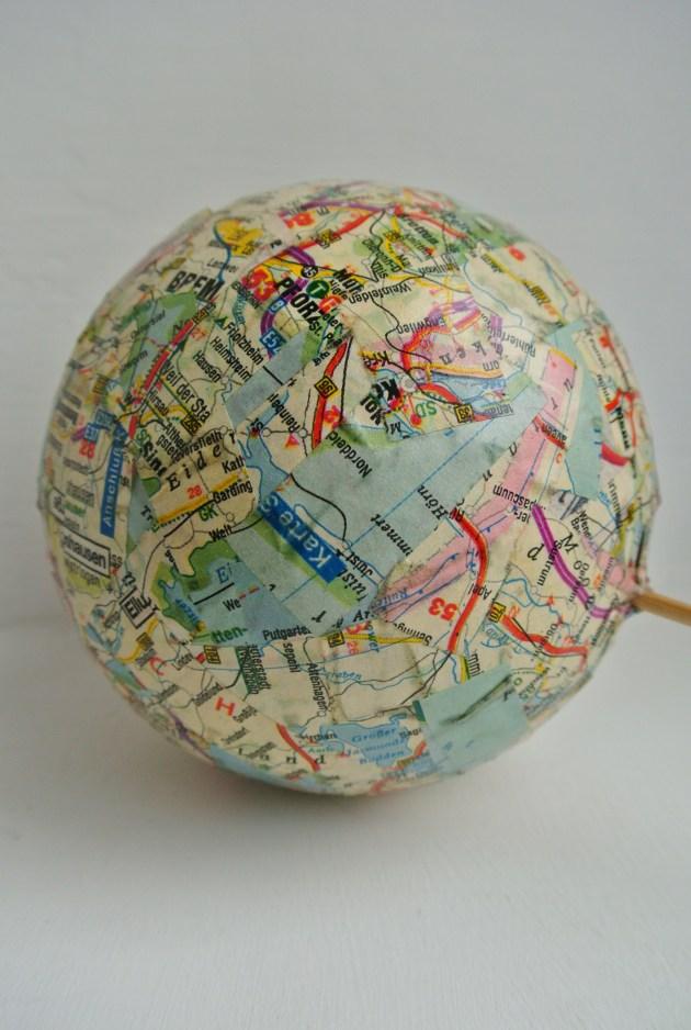 DIY Globe Cake Topper