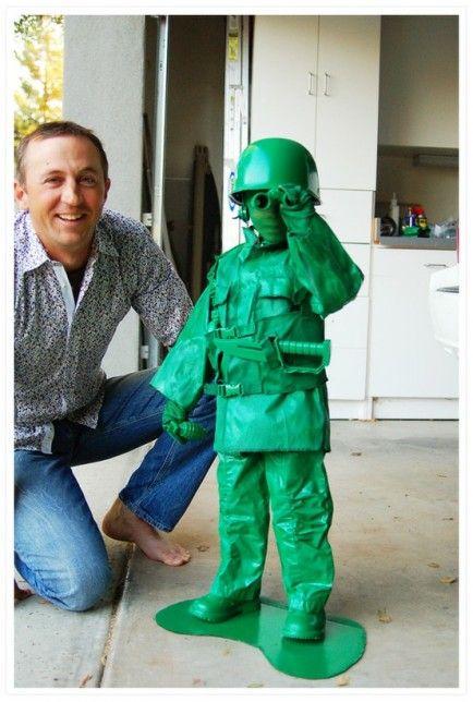 DIY Green Soldier Costume