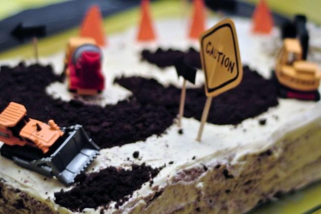3rd Birthday Construction Theme Cake