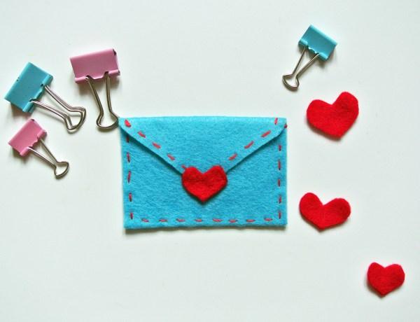 Valentine's Day Felt Envelope