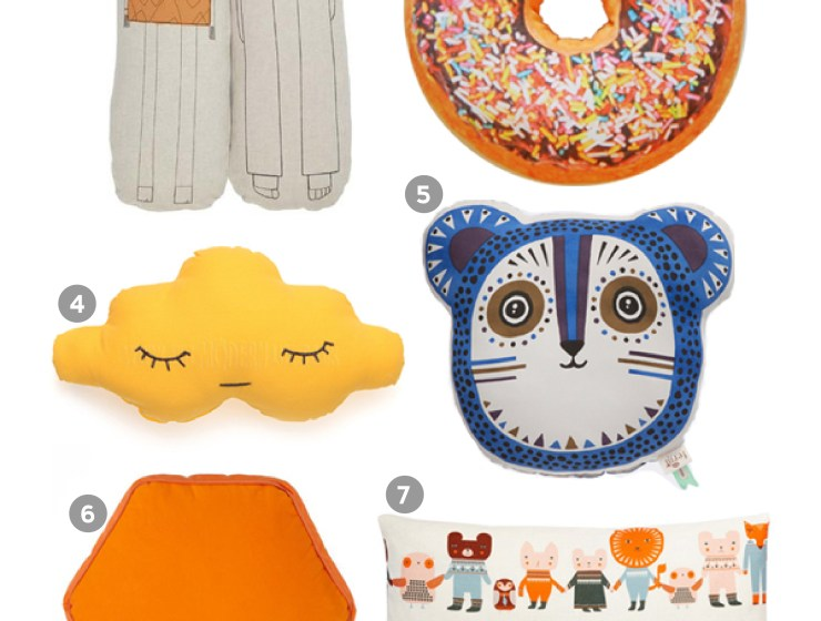 A Bird with a French Fry - Kids Cushion Roundup
