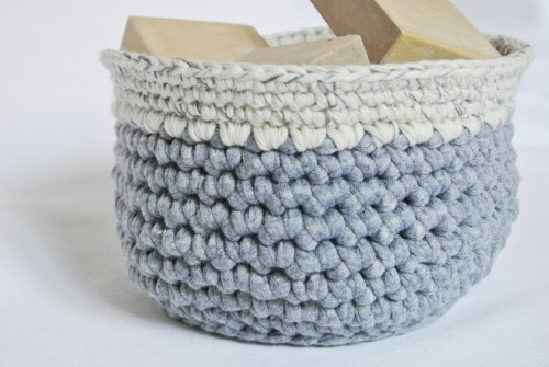 Handmade Crochet Basket - A Bird with a French Fry