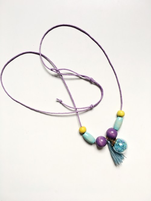 A Bird with a French Fry - Wish Charm Necklace