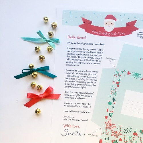 Letter from Santa - Printable Template - A Bird with a French Fry