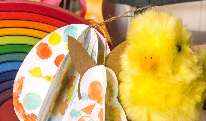 A Bird with a French Fry - Accordian Easter Egg Craft DIY