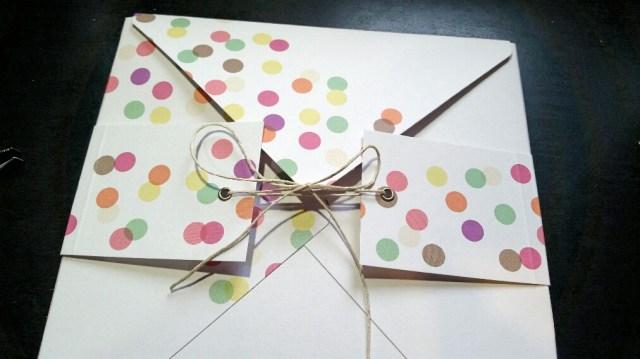A Bit Of Glue & Paper - handmade memory keeping album envelope, girl's birthday - Vancouver BC