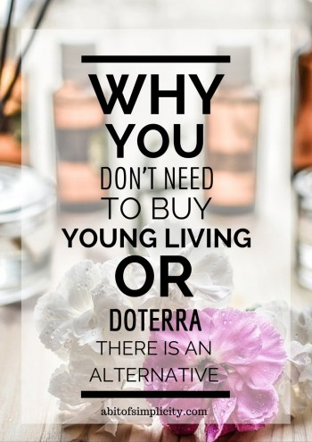 Do not think that YoungLiving or DoTerra are your only options for 100% pure essential oils. The PlantTherapy brand offers high quality oils at a fraction of the cost! Let me tell you my experience with them. www.abitofsimplicity.com
