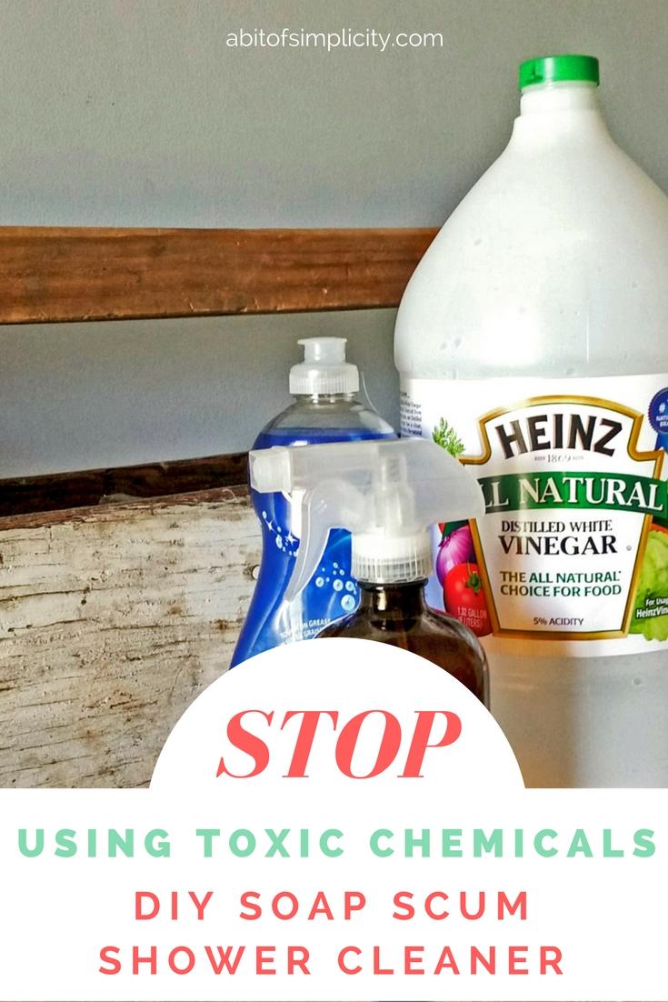 DIY Soap Scum Shower Cleaner