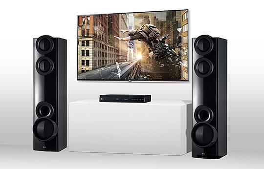 LG Aud 675 LHD Bluetooth Home Theatre