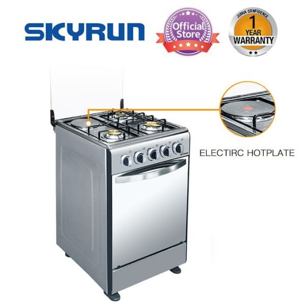 Skyrun 3gas + 1 Electric Burner GAS COOKER Grill Oven