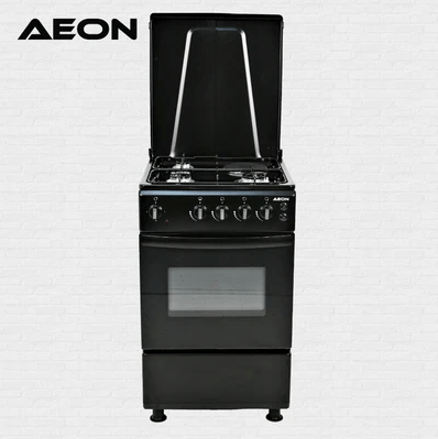 Aeon Gas Cooker 50×50 3 Gas + 1 Hot Plate Black