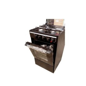 Midea 3 Gas Burner 1 Hot Plate Standing Cooker + Gas Oven + Grill