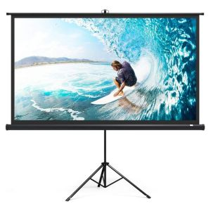 SMAAT 96 X 96 Inches Tripod Projector Screen