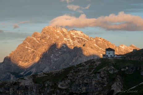 Zinnenschatten und Rifugio Auronze