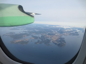 Flight over the fjord