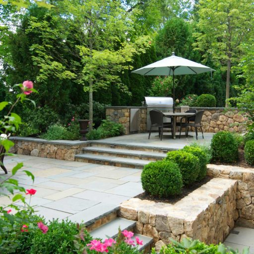 Backyard Stone Patio