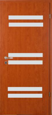 Dekorfóliás beltéri ajtó - G üvegezéssel