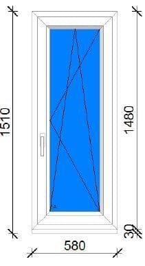 60x150 műanyag ablak
