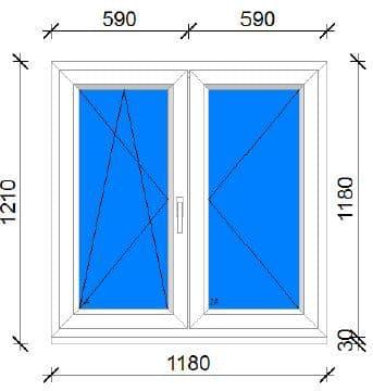 120x120 műanyag ablak