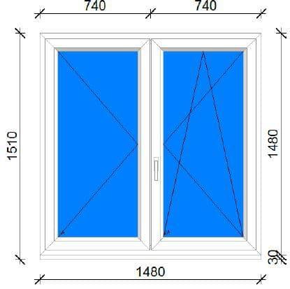 150x150 műanyag ablak raktárról