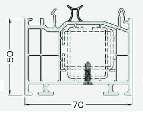 műanyag ablak toktoldó 50mm-es