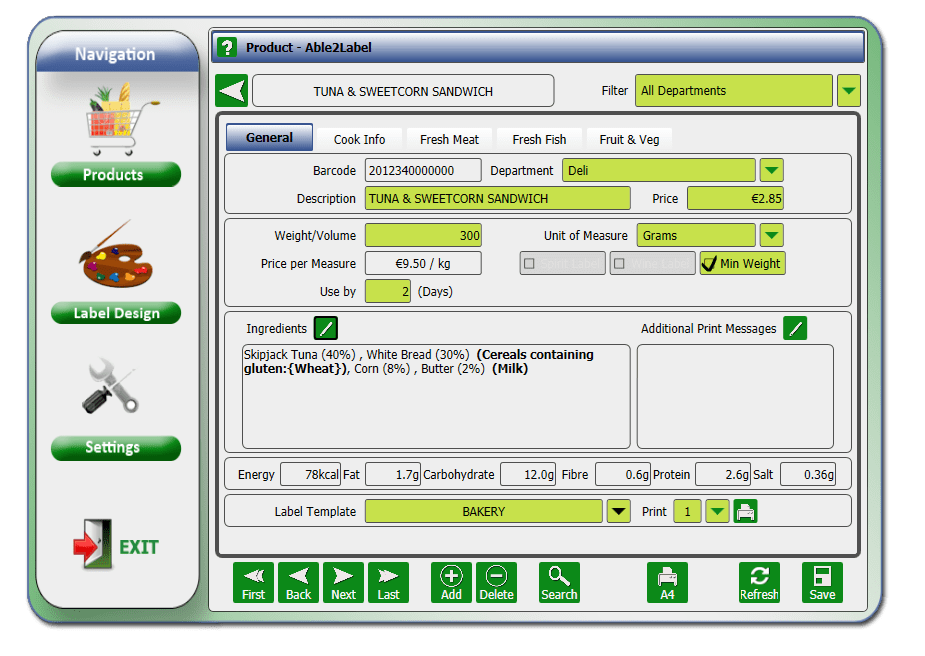 Able2label software