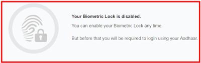 Biometric data Unlock