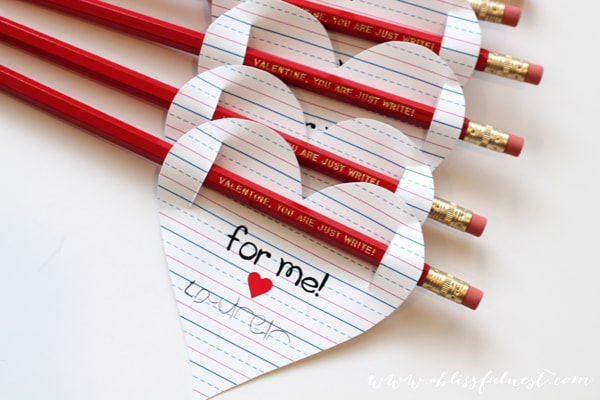 Valentine Free Printables You Are Just Write By A