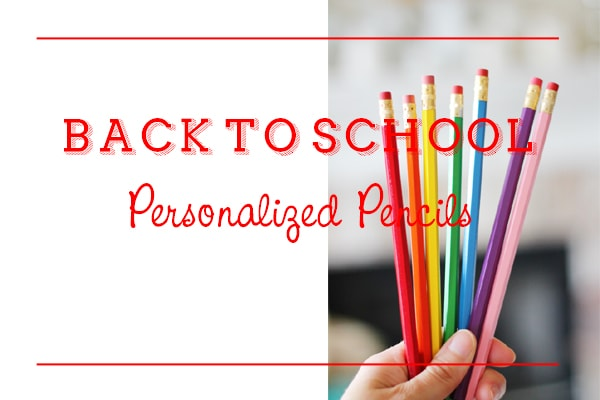 Back To School Personalized Pencils Now Available!
