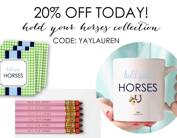 Hold Your Horses! – 20% Off Sale Today
