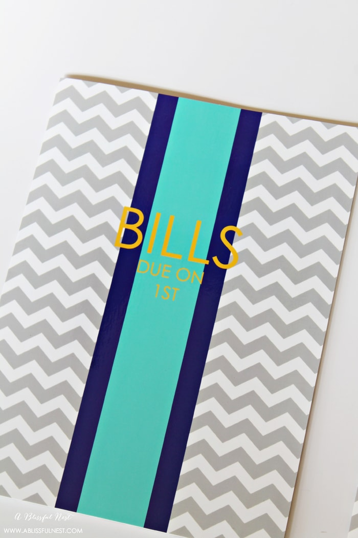 Organizing Your Bills by A Blissful Nest