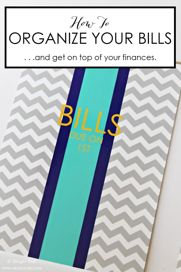 Easy tips to organize your bills to stay ahead of the paper clutter so you don't fall behind.