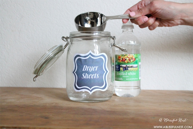 DIY Dryer Sheets by A Blissful Nest