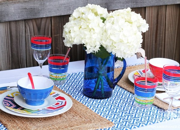 Red, White and Blue Table Decor