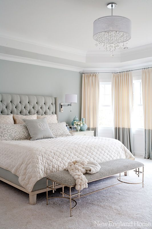 Painting the wall a color helps to add visual interest behind a bed. More ideas for decorating over a bed on A Blissful Nest. https://ablissfulnest.com