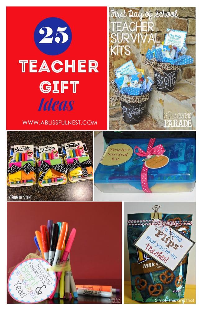 Teacher Gift Ideas via A Blissful Nest  sc 1 st  A Blissful Nest & 25 Back To School Teacher Gift Ideas