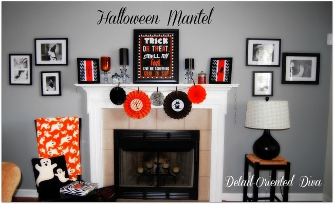 Detailed Oriented Diva Halloween Mantel