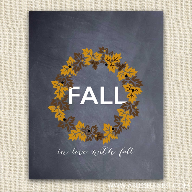 Fall Free Printable - A Blissful Nest