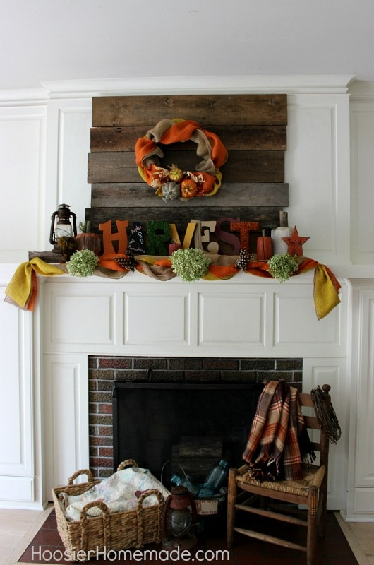 Hoosier Homemade Fall Mantel