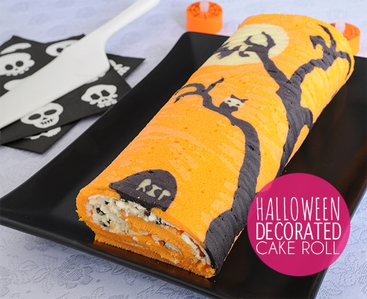 Halloween Decorated Cake Roll