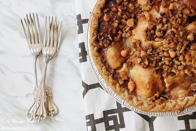 Butterscotch Apple Pumpkin Pie Recipe by A Blissful Nest 005