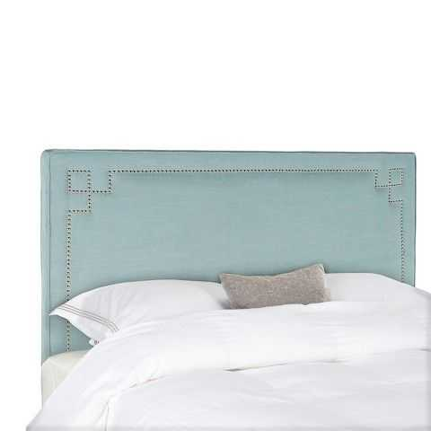 Love this beautiful color, and the nailhead pattern is so unique and stands out nicely against the teal fabric. We've rounded up 15 of the BEST affordable headboards under $300!! ~ via A Blissful Nest