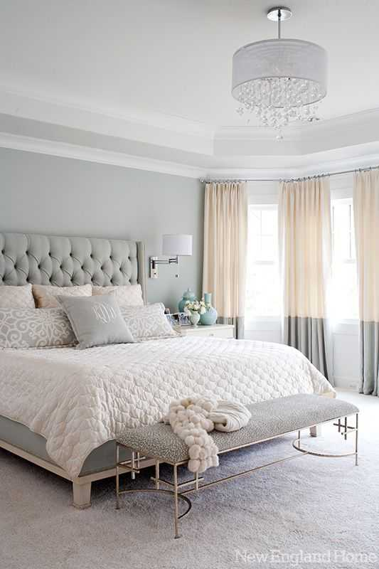 A bed lovers dream! Design details on how to get this neutral & serene master bedroom look.