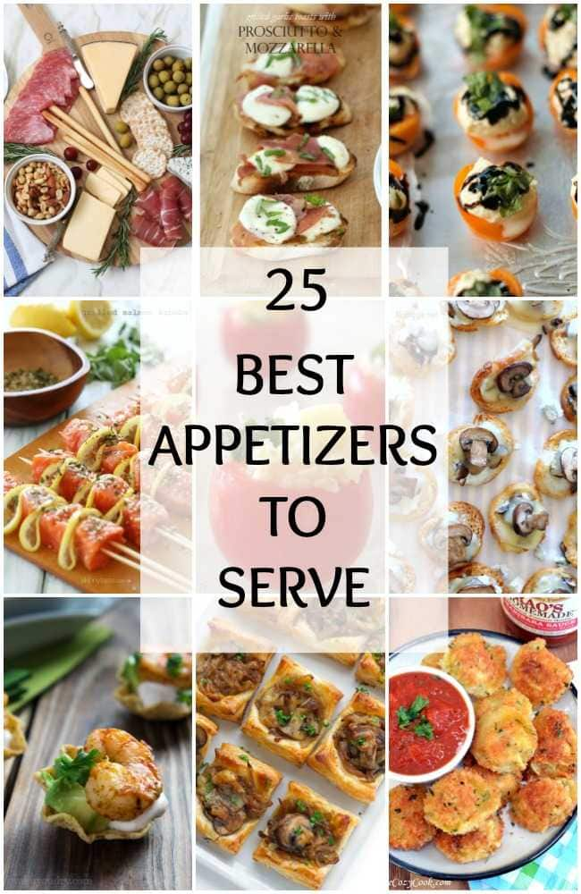 The 25 best appetizers to serve at your next party are mouth watering! See more on https://ablissfulnest.com/