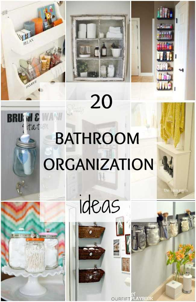 Get inspired and get new ideas to gain space for your bathroom with these 20 ideas for bathroom organization. #bathroom #bathroomideas #organization